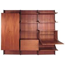mid century modern wall unit shelves