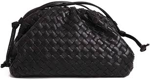 Get The Looks The <b>Pouch</b> Cloud Shape Woven Real Leather <b>Bag in</b> ...