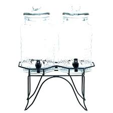 glass drink dispenser with stand double beverage dispenser drink dispenser stand only core double 1 gallon