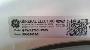 Ge Appliances Washing Machine 1 Ge Appliances Gfwr2700h1ww Washing Machine Complaints And