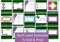 Label Template | Popular Samples Templates & ... Quilt Label Template (3) ... Adamdwight.com