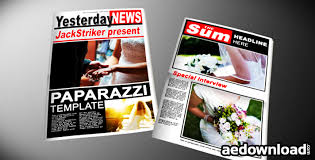 Newspaper Template After Effects Free Paparazzi Tabloid Newspaper After Effects Project Videohive