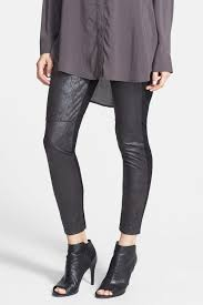 image of lysse rue faux leather ponte knit leggings