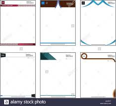 Business Pad Design Vector Vector Illustration Of Letterhead Pad Set 01 Modern And