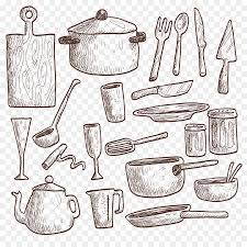 Table Kitchen utensil Drawing Kitchenware Vector Kitchen 12001200