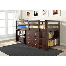 kids beds with storage. Beautiful With Donco Kids 760CP Low Study Loft Bed Dark Cappuccino In Beds With Storage K