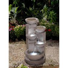 jeco multi tier bowls water fountain