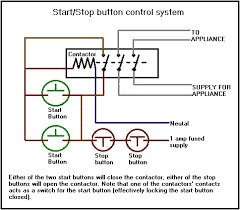 contactors and control circuits common relay contactor set up utilising a start stop circuit