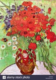 vincent van gogh red poppies and daisies 1890 post impressionism oil on canvas albright knox art gallery buffalo ny usa