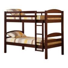 Walker Edison - Walker Edison Solid Wood Bunk Bed, Espresso, Twin/Twin -