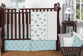 Sweet Jojo Designs Space Galaxy 11pc Crib Bedding Set Blue Sweet Jojo Designs 11 Piece Turquoise Blue And Gray Earth And Sky Birds Nature Girl Or Boy Baby Bedding Crib Set Without Bumper