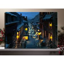 Led Lighted Canvas Painting Canvas Wall Art With Led Lighted Up San Francisco Railroad