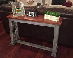 distressed entry table. rustic entry table | farmhouse foyer distressed finish antique paint solid wood