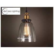 modern vintage industrial retro decasa loft glass ceiling lamp shade pendant light type d
