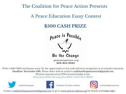 peace essay contest calling all high school students coalition click here for more details and contest rules