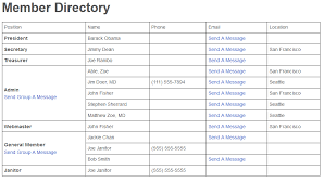Pta Member Directory And Contact Form Wordpress Org