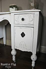 child s vintage vanity desk old white chalk paint