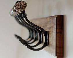 Vintage Coat Hook Rack ENGLISH OAK Coat Hook Steam bent curve 15