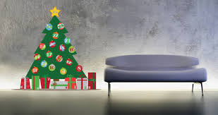 Festive Christmas Tree Wall Decals For The Holiday Spirit  Uniq Christmas Tree Decals