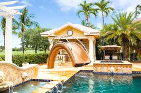 residential indoor pool with slide. Sleek, Sculptural Water Slides For The Modern Pool Residential Indoor With Slide