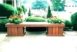 outdoor bench with planter boxes box cedar garden pg woodcraft