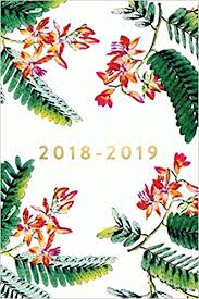 2018 2019 18 Month Weekly Monthly Planner 2018 2019 Pink Ferns