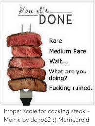 Rare Medium Rare Chart How Its Done Rare Medium Rare Wait What Are You Doing