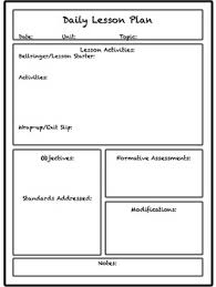 Template For Lesson Plan Lesson Unit Plan Templates For Middle Or High School
