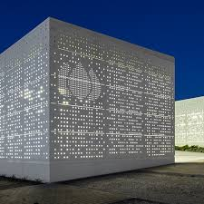 Office building facades Tropical Office Building Tagus Gas Researchgate Swisspearl Largo Swisspearl Swiss Premium Façades