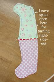 Christmas Stocking Sewing Pattern Cool Easy DIY Stocking Tutorial