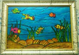 glass painting i answer u marine life glass painting fish glass painting