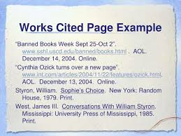 Works Cited Example Ppt Parenthetical Citations And Works Cited Page Powerpoint