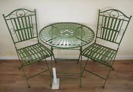 wrought iron garden furniture. french ornate antique green wrought iron metal garden table and chairs bistro furniture set amazoncouk u0026 outdoors