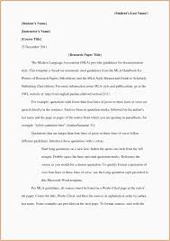 Research Paper Outline Template Mla Format Example Blank