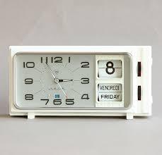 vintage alarm clock flip calendar clock new old stock nos diamond shanghai china retro clock mechanical wind up desk clock