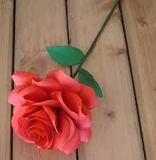 Paper Flower Stems Single Stem Paper Rose By Suzi Mclaughlin Notonthehighstreet Com