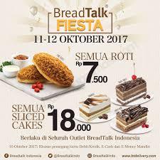 Breadtalk Fiesta Harga Spesial Rp 7500 Untuk Semua Roti Dan Rp