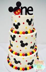 Mickey Mouse Birthday Cakes Mickey Mouse First Birthday Cake Easy