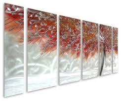 ferocity of color aluminum set of six metal wall art on metal wall art panels with aluminum wall art panels elitflat