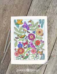 Lifes A Garden Adult Coloring Page Bhg At Home Blogger Contributor