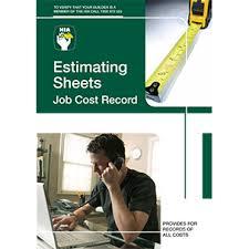Estimating Job Estimating Sheet Job Cost Record