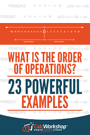 order of operations explained with calcwork