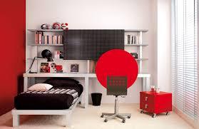 red white black bedroom idea