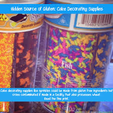 Decorating With Sprinkles Gluten Free Diet Hidden Sources Of Gluten Gluten Free Labels