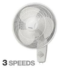 oscillating wall fan. Lasko 16\u0026quot; Oscillating Wall Mount Fan With 3 Quiet Whisper Speeds And Rotary Knob Or T