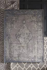 next antique effect oriental rug grey