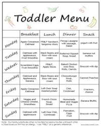 Toddler Meal Plan Chart 11 Best Meal Plan For Toddlers Images Baby Food Recipes