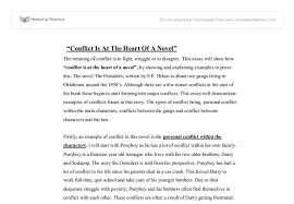 the novel the outsiders written by s e hilton is about two gangs  document image preview