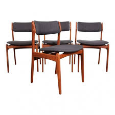 remendations modern dining chairs set of 4 lovely eric buch o d mobler mid century modern teak