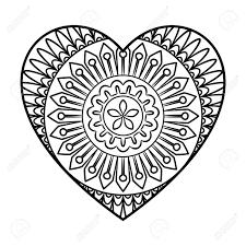 Coloriage De Mandala De Coeur Estb